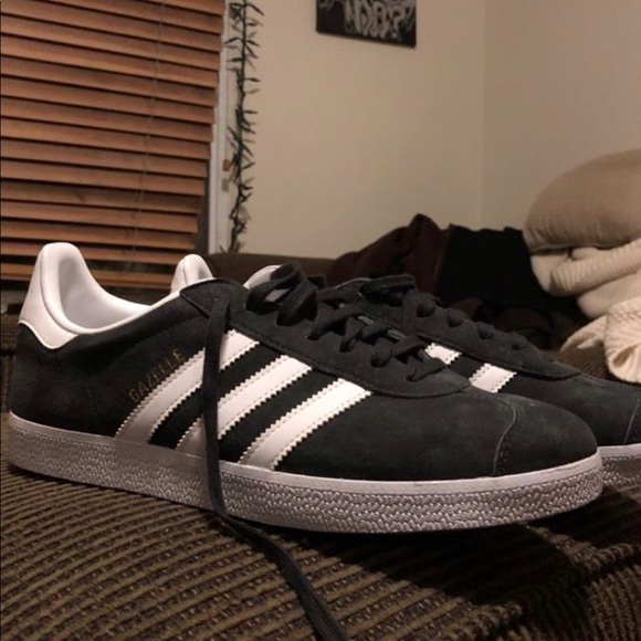 Adidas Gazelle Dark Grey Mens Shoe Size